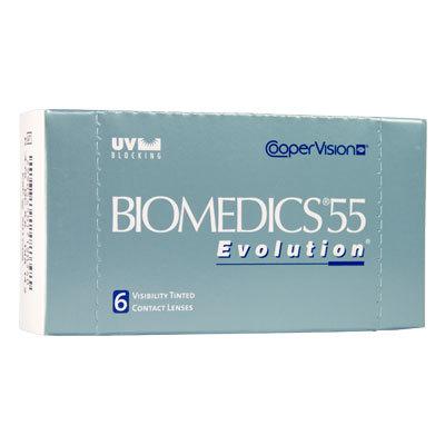 Altes Packungsdesign der Biomedics 55 Evolution UV
