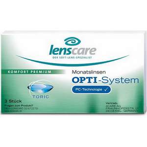 OPTI-System Toric Monatslinsen 3er Packung